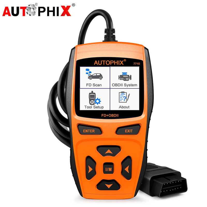 купить Autophix Automotive Diagnostic Tool 7710 OBDII OBD2 Scanner for Ford Car Engine Fault Code Reader +ABS SRS Airbag EPB Oil Reset недорого