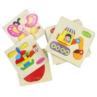 Baby Spielzeug Holz Puzzle Nette Cartoon Tier Intelligenz Kinder Pädagogisches Geschenk Gehirn Teaser Kinder Tangram Formen Jigsaw geschenk