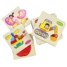 Juguetes de bebé rompecabezas de madera lindo Animal de dibujos animados inteligencia niños regalo educativo cerebro Teaser niños Tangram formas rompecabezas regalo