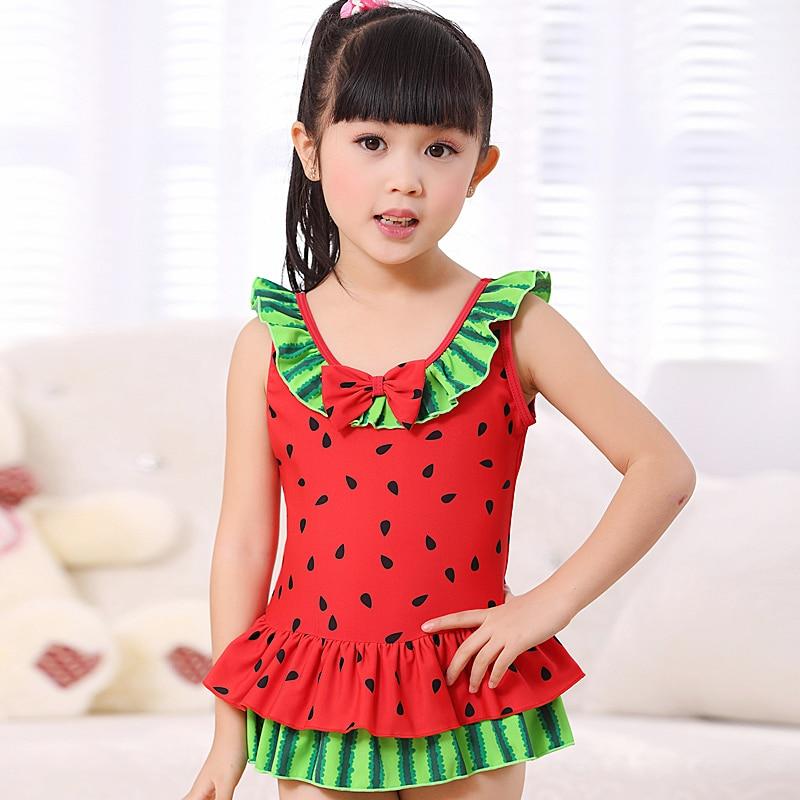 2014 Kids Frozen Bathers Watermelon Child Swim Suit Girl