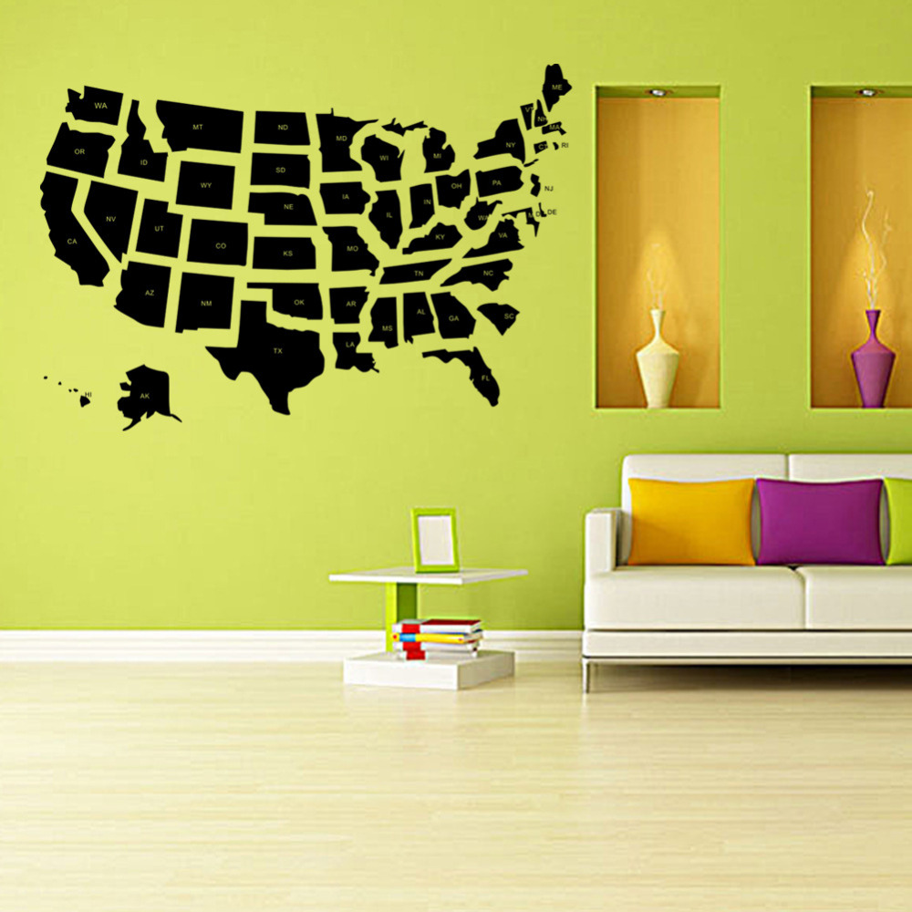 Generous Usa Map Wall Art Ideas - The Wall Art Decorations ...
