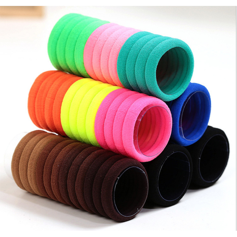 10pcs Candy Fluorescence Color Elastic Rubber Gum Hair Bands Ponytail Holders For Gils Women Hair Accessories Hair Ties Headband
