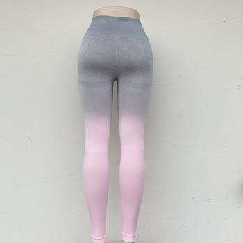 Sport Yoga Gradient color energy Legging Women Workout Fitness Jogging Running Pants Gym Tights Stretch Sportswear Yoga Leggings 3