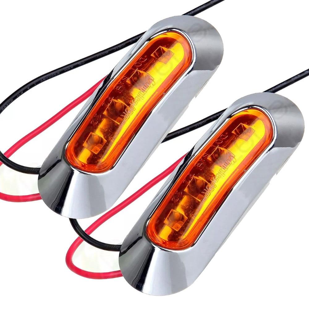 Авто в 2x Янтарный/Красный 4-СИД эвакуатор габаритного света Погружающийся СИД лампы HID ошибка бесплатный автомобилей Клина стороны света автомобилей стайлинг ря 12