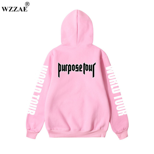 Justin Bieber Purpose Tour Print Hoodie Men Hip hop Streetwear Fleece Cotton Pullover WORLD TOUR Special Sweatshirt Women S-XXL