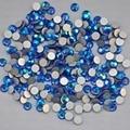 Sapphire AB Color ss3, ss4, ss5, ss6, ss8, ss10, ss12, ss16, ss20, ss30 posterior plana del Hotfix no Nail Art pegamento en los Rhinestones