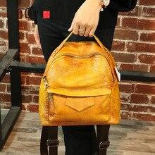 AETOO Season new women's shoulder bag hit color retro female bag wild student backpack