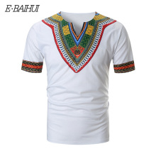 E-BAIHUI Africa Clothing style t shirts African Dashiki Traditional Man short Shirt Maxi T Summer Clothes T-shirt TAAE