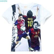Boy Barcelona t shirt Children clothing short sleeve tees teen age baby clothing summer kids tops Football T-shirt Football star
