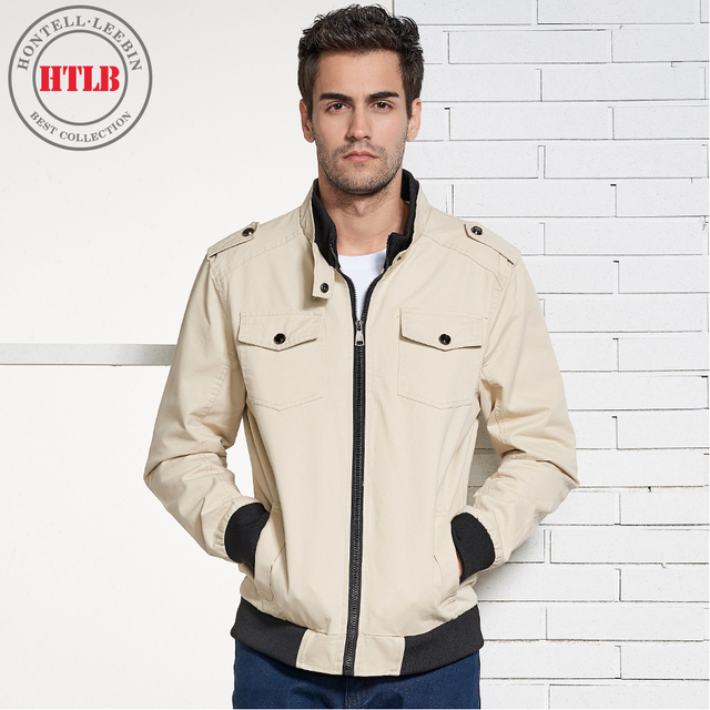 HTLB 2018 New Autumn Men Casual Cotton Jacket Coat Men's Spring Fashion Washed 100% Pure Cotton Pockets Outwear Jackets Coat Men