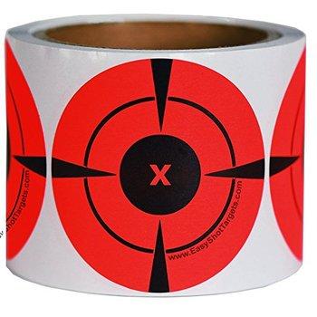 "Objetivos de disparo adhesivo (cantidad 250 uds/rollo 3 "") blanco neón naranja autoadhesivo 3 pulgadas adhesivos de destino para disparar"