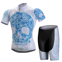 цены Skeleton Pattern Pro Breathable Cycling Sets/Ropa ciclismo Mountain Bicycle Clothes/Racing Bike Cycling Clothing Sport Wear