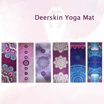 1830 610 1mm yoga mat fitness rubber pad foldable ultra thin non slip portable yoga blankets suede mat towel Printed Suede Yoga Mat Non Slip 1.5mm Thin Portable Travel Outdoor Yoga Mat Cover Pilates Fitness Yoga Blanket for Gym Fitness
