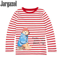 лучшая цена Jargazol Kids T-shirt 2018 New Autumn Long Sleeves T Shirt Patch Girls Boys Tshirt Children Shirts Tops Tees Clothing for 2-7Y