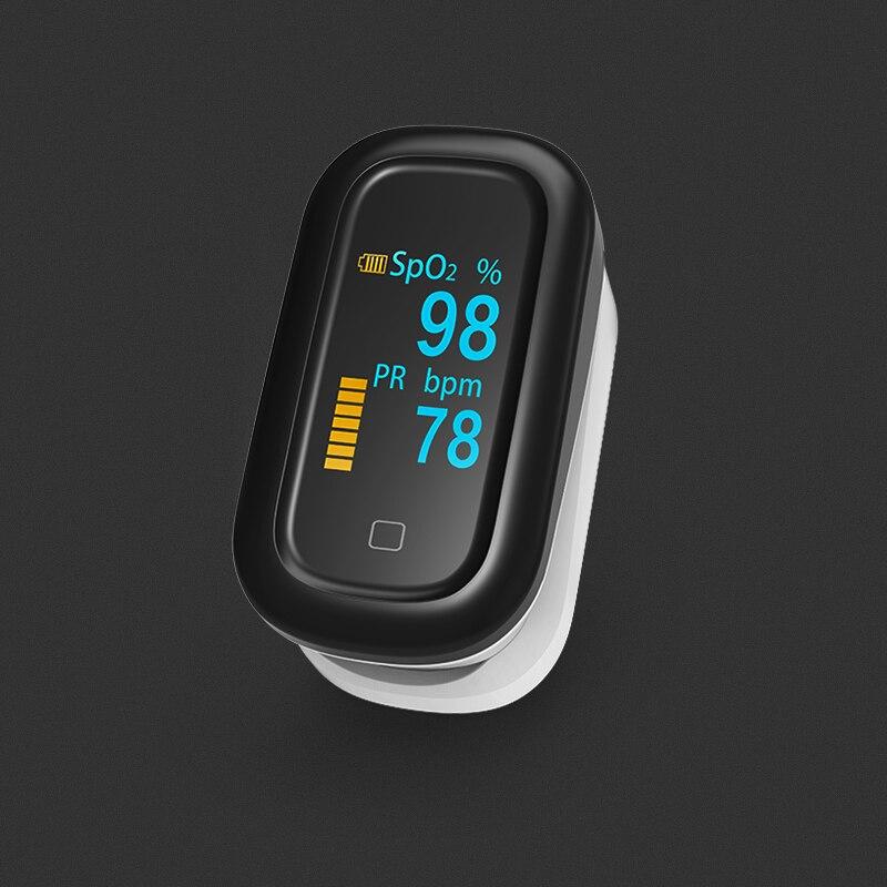 BOXYM Médica Oxímetro de pulso Dedo OLED Touch Screen Completo Saturometro Oxímetro de dedo Monitor de Freqüência Cardíaca Monitor de oxigênio no sangue