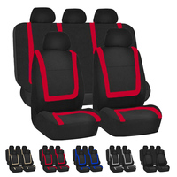 Dewtreetali 9pcs Car Seat Cover Cloth Fabric Universal Automobile Seat Covers Seat Protector Car Styling Interior