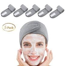 5 шт. спа-повязка на голову для лица, повязка на голову из махровой ткани, растягивающееся полотенце с волшебной лентой
