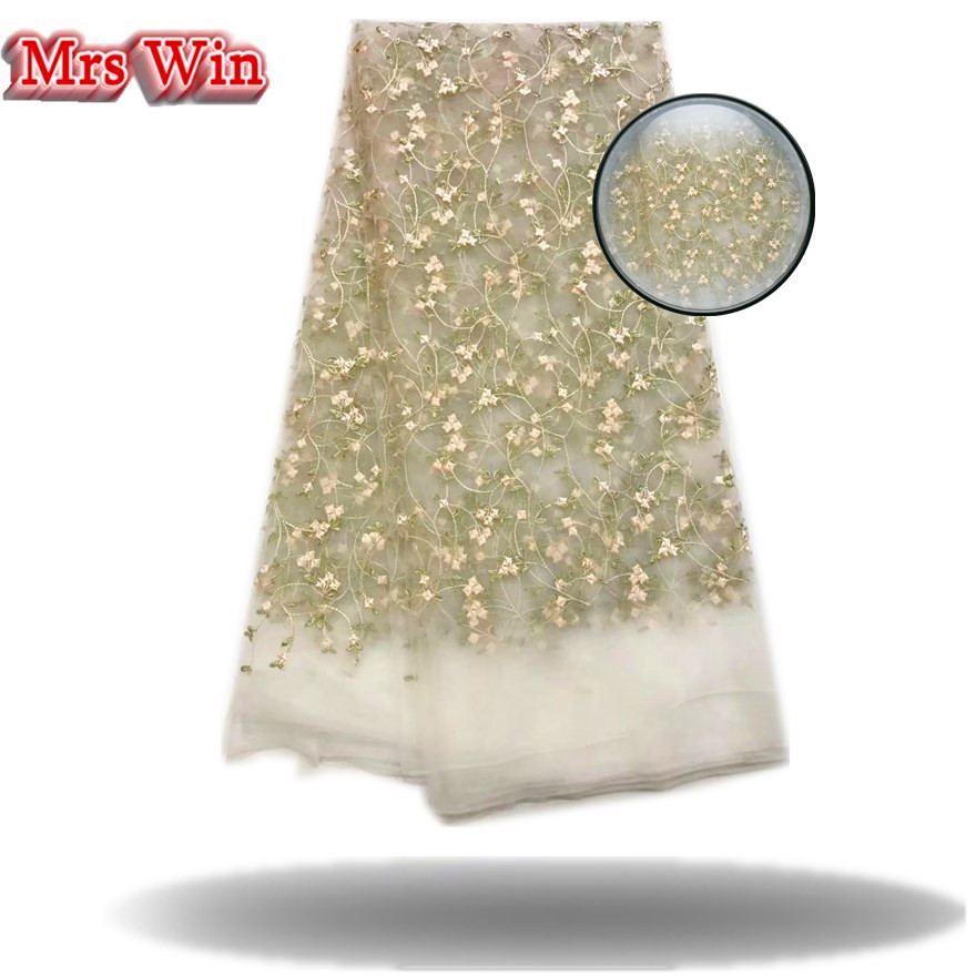 Latest Nigerian Laces 2017 Hot embroidery Fabric French Design African French Lace Fabric 2018 High Quality Lace evening dress