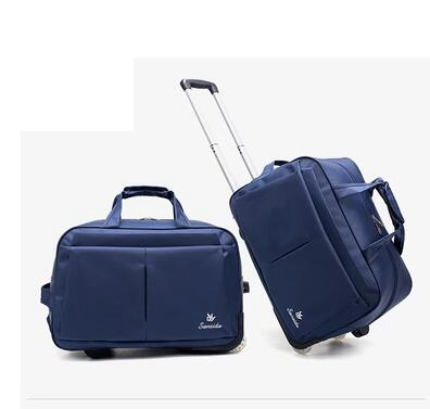 Oxford Men Travel Luggage Bag Women Travel Rolling Suitcase Bags On Wheels Travel Trolley Bags Business Trolley Wheeled Bags