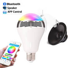 Phone APP Control Colorful Music Smart LED Bulb Light Wireless Bluetooth Speaker E27 3W Lamp Audio for Android ISO iPhone iPad