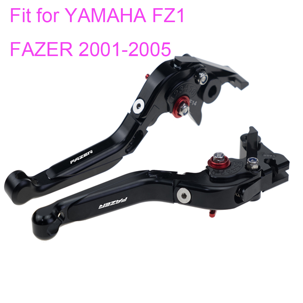 KODASKIN Left and Right Folding Extendable Brake Clutch Levers for YAMAHA FZ1 FAZER FZS 1000 2001-2005 for yamaha fzs 600 fazer 2002 2003 cnc motorcycle foldable extending 170mm brake clutch levers moto folding extendable lever