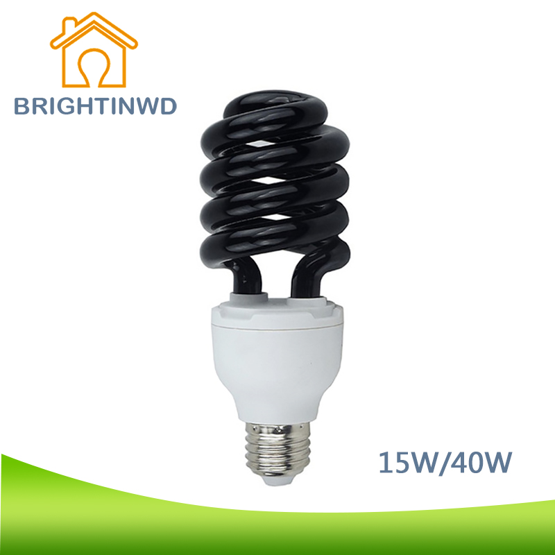 BRIGHTINWD 15W 40W Germicidal Ultraviolet Lamp Black Light E27 220V UV Lamp Light Kitchen Sterilizing Fluorescent Lighting Bulb