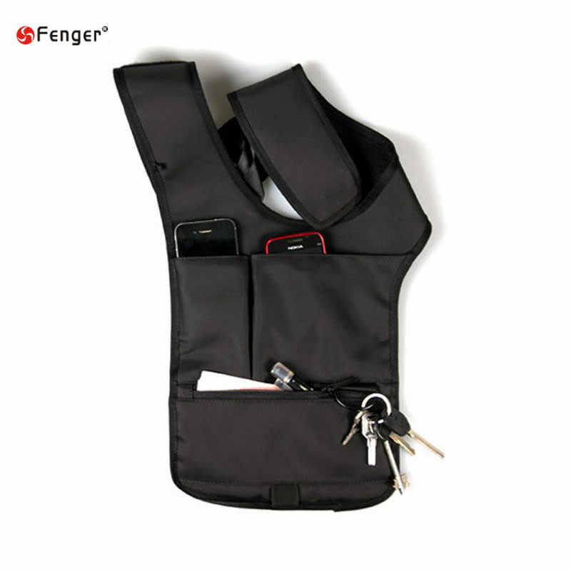 Waterproof nylon hikings invisible vest bag MOLLE system tablets bag IPAD bag purse wallet FBI agents armpit Tacticals Bag