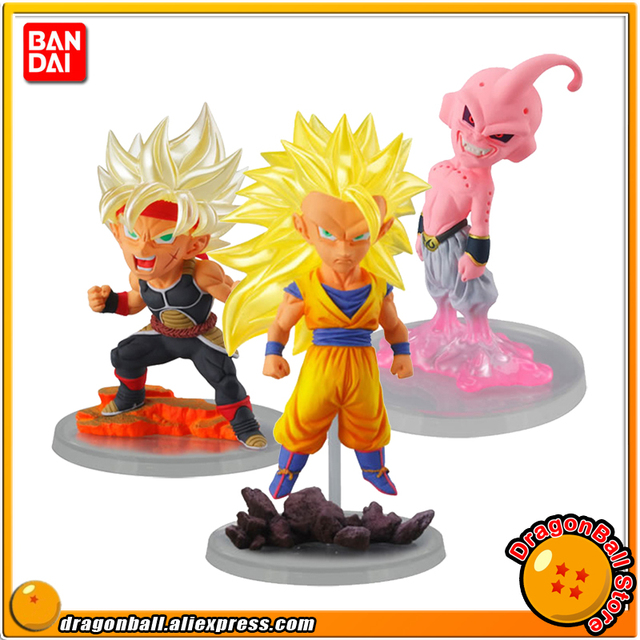 """""""Dragon Ball SUPER"""" Original BANDAI Grau Máximo UG 03 Gashapon PVC Toy Figura-Conjunto Completo de 3 peças Goku Buu Bardock"""