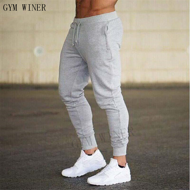 2019 GYMS New Men Joggers Brand Male Trousers Casual Pants Sweatpants Jogger grey Casual Elastic cotton Fitness Workout pan 28