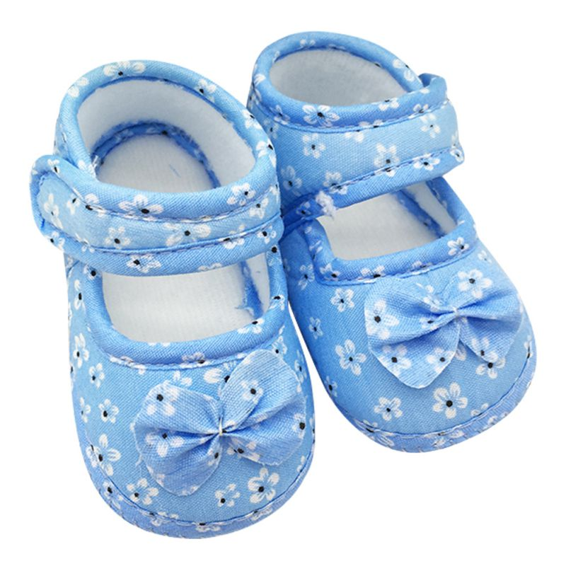 Infant Prewalker Toddler Girls Kid Bowknot Soft Anti-Slip Crib Shoes First Walkers 0-18 Months New