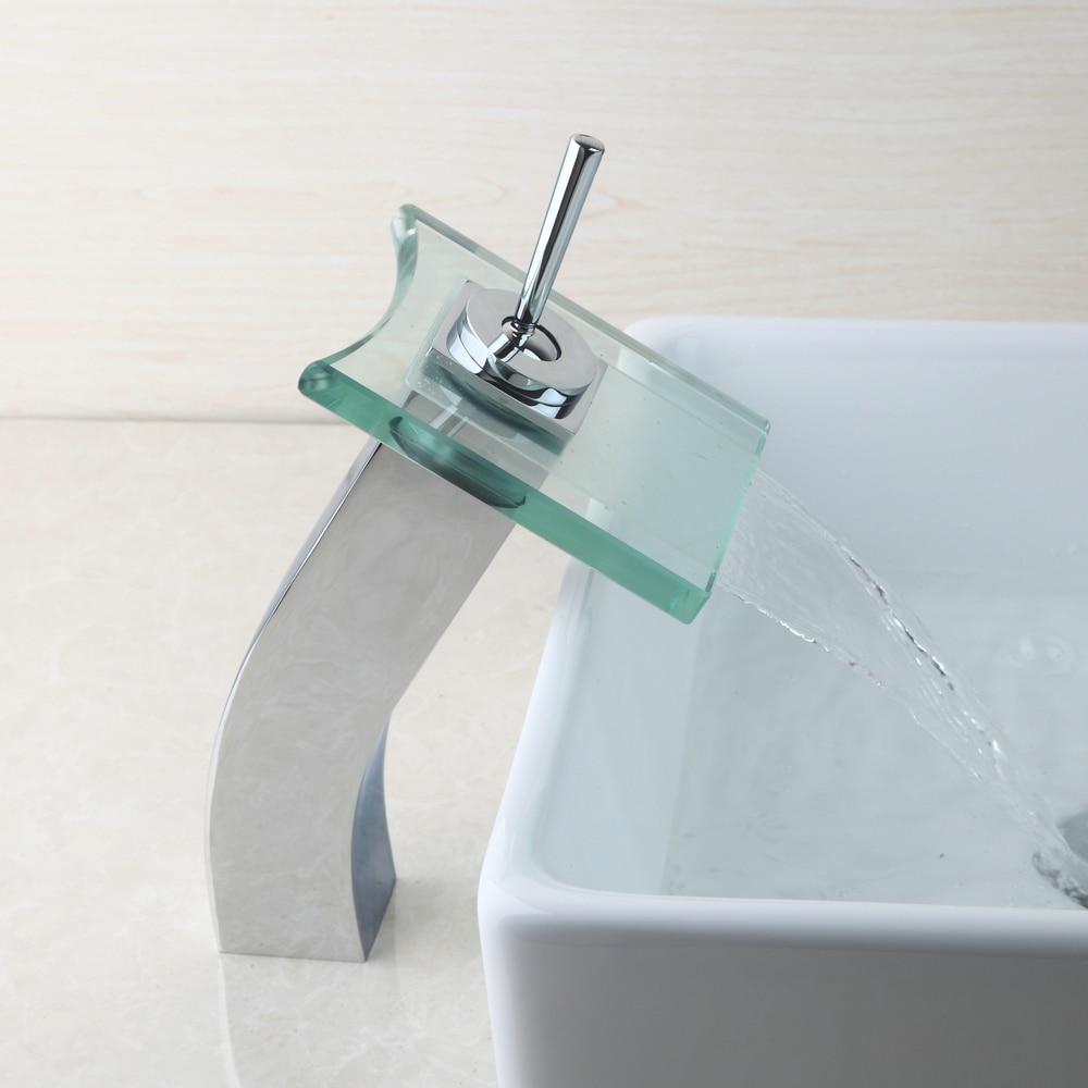 Φ_ΦOUBONI Waterfall Faucet Deck Mounted Single Handle Faucet Tap ...