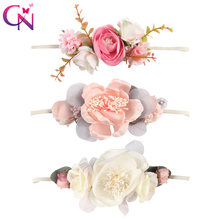 Kids Flower Headband Nylon Faux Flower Party Flowers Hair Bands Children Elastic Photography Props Hair Accessories Headdress(China)