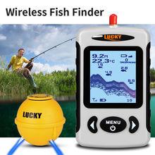 LUCKY FFW718LA Russian Fishfinder Attractive Lamp 45M Wireless Sonar Sensor 90 Degrees 2 2 inch Screen