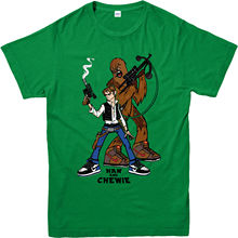 Star Wars T-Shirt,Han N Chewie-Han Solo-Chewbacca Spoof,Adult and kids Sizes Youth Round Collar Customized  free shipping