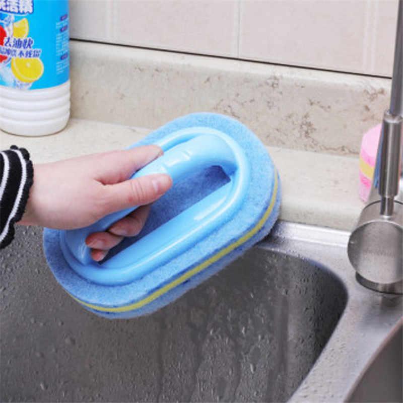 1 قطعة الحمام الطابق أسفنجة مطبخ أسفل حوض جدار البلاط تنظيف فرش الأنظف الأزرق