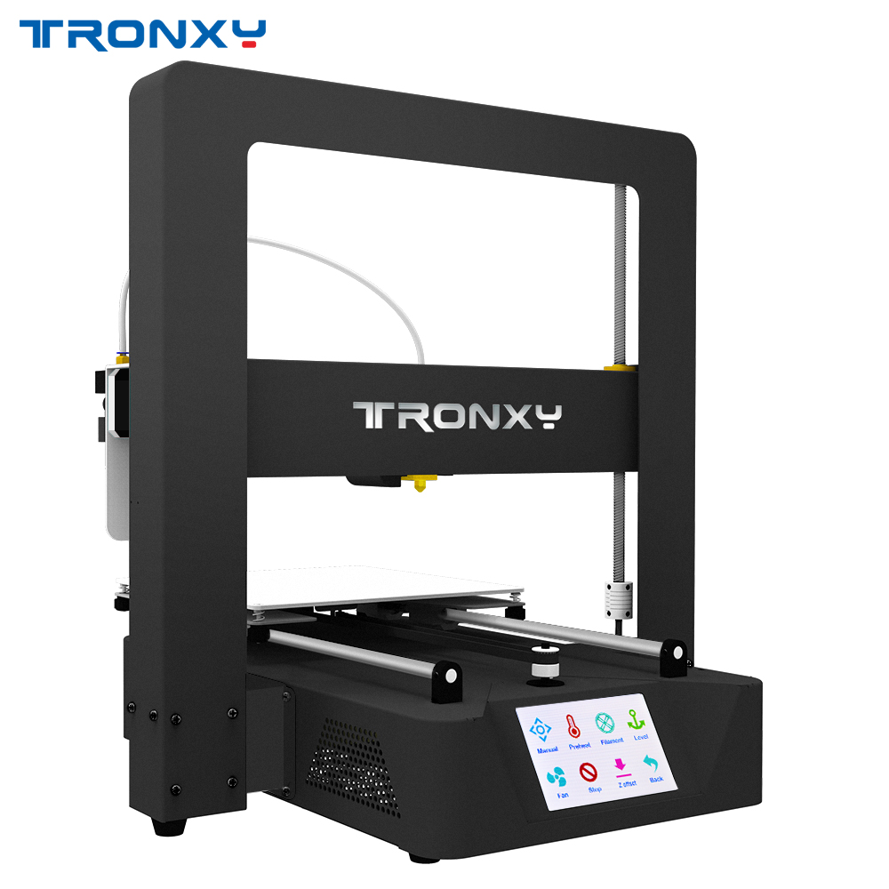 Newest Tronxy 3D Printer X6A 3.5 inches TFT Touch screen Auto leveling high precision 3d Print Big size 220*220*220mm цена 2017