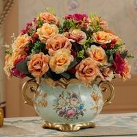 European Ceramic Vase floral ornaments retro decor Home Furnishing fashion vase ceramic crafts