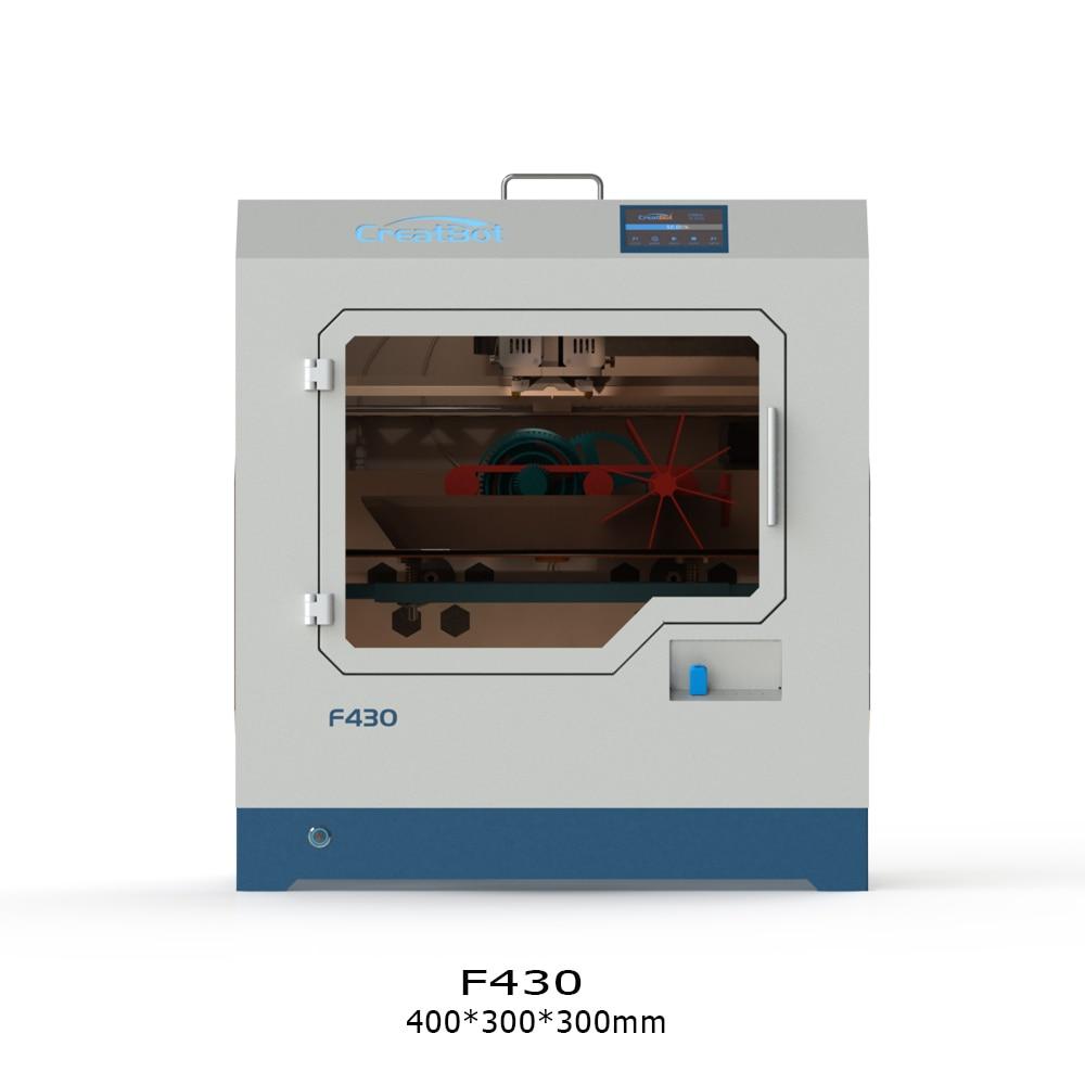 CreatBot PEEK 3D Drucker F430 400*300*300MM dual extruder 1,75mm PLA ABS große druck größe alle Geschlossen Kammer