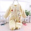 Macacão de Bebê recém-nascido Menina Marca Original Roupas de Outono Pijamas CL0733 Trabalhadores Traje Do Bebê de Algodão Macacão de Manga Longa