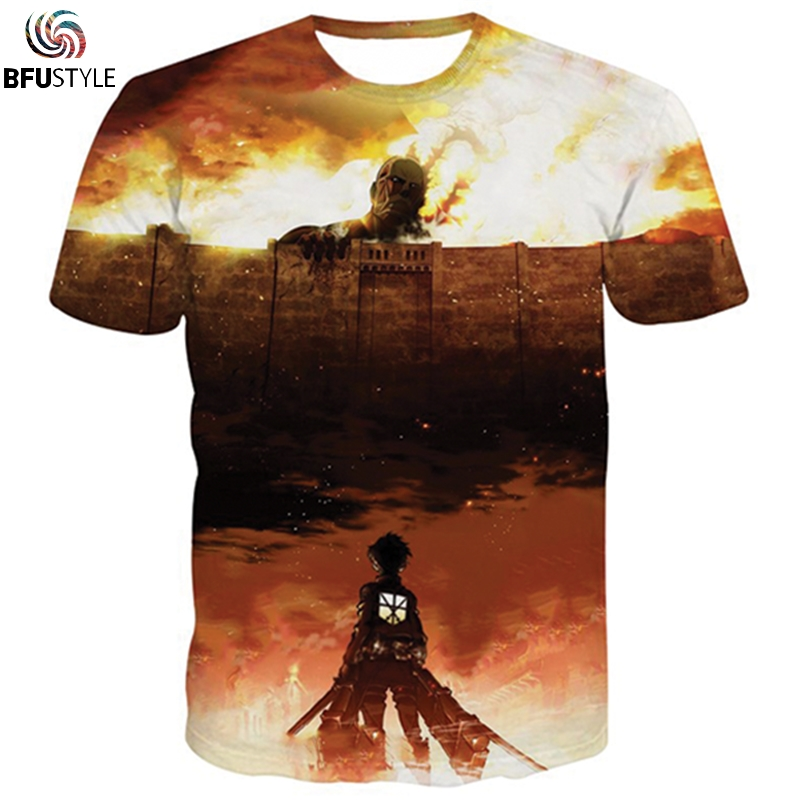 Attack On Titan 3D T Shirt Men Women New Fashion Brand Male Clothing Casual Hip Hop Strretwear T-Shirt S-5XL Dropship