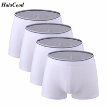 4Pcs/lot Hot Quality Cotton Men's Boxers Shorts Popular Brand Fashion Sexy Man U