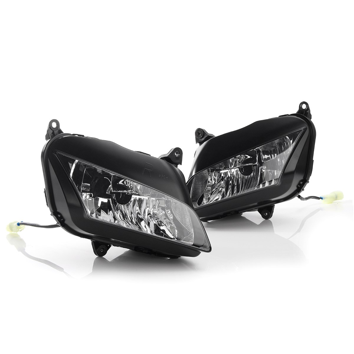 1 Pair Front Motorcycle Headlight Head Lamp Lens Assembly For Honda CBR600RR 2007/2008/2009/2010/2011/2012 arashi motorcycle radiator grille protective cover grill guard protector for 2008 2009 2010 2011 honda cbr1000rr cbr 1000 rr