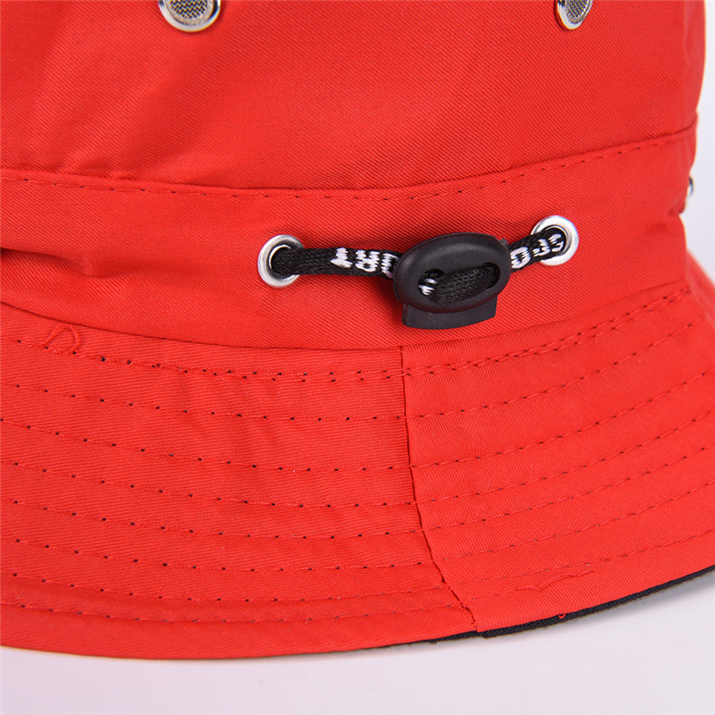 8bcb8b3d193 Female Male Fisherman Cap Unisex Flat Cotton Bucket Hat Spring Summer Sun  Hat Travel Women Hat For Men Women Black Red-in Bucket Hats from Apparel ...