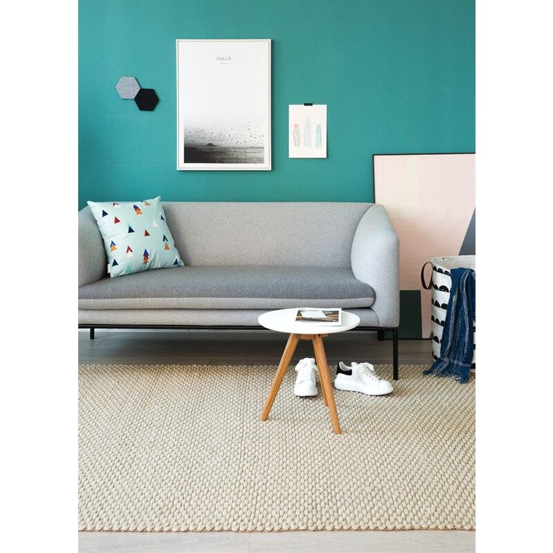 Jute tissé à la main tapis pour salon canapé thé Table tapis 160 cm x 230 cm - 4