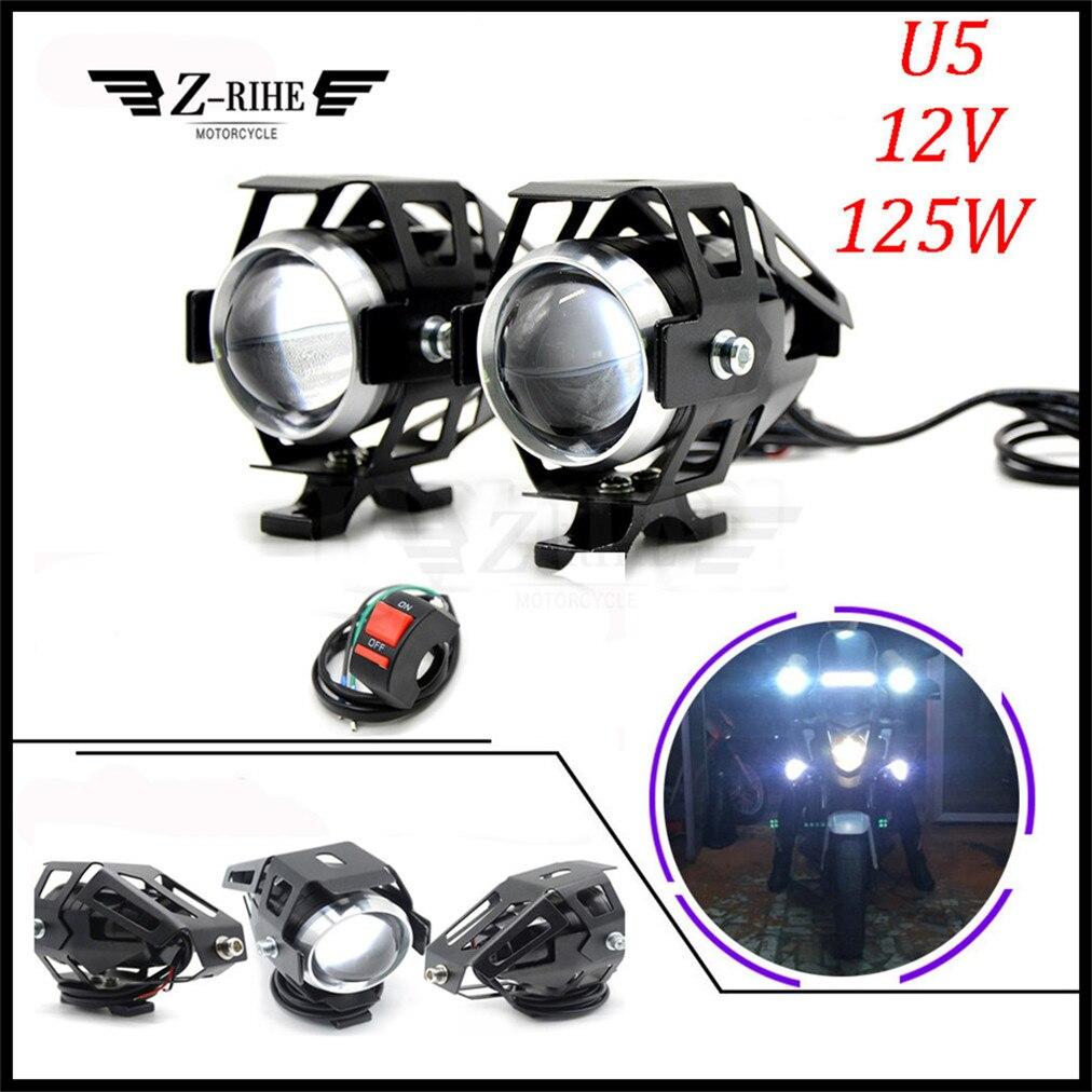 Motorcycle <font><b>LED</b></font> Headlight Driving Spot Head Lamp Fog Light for Honda CBR600F <font><b>CBR600RR</b></font> CBR 600F 900RR 1000RR CBR900RR