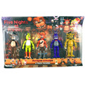 "5pcs/set Five Nights At Freddy's FNAF 5.5"" PVC Action Figure Toys Foxy Gold Freddy Chica Freddy With Christmas gift AC54"
