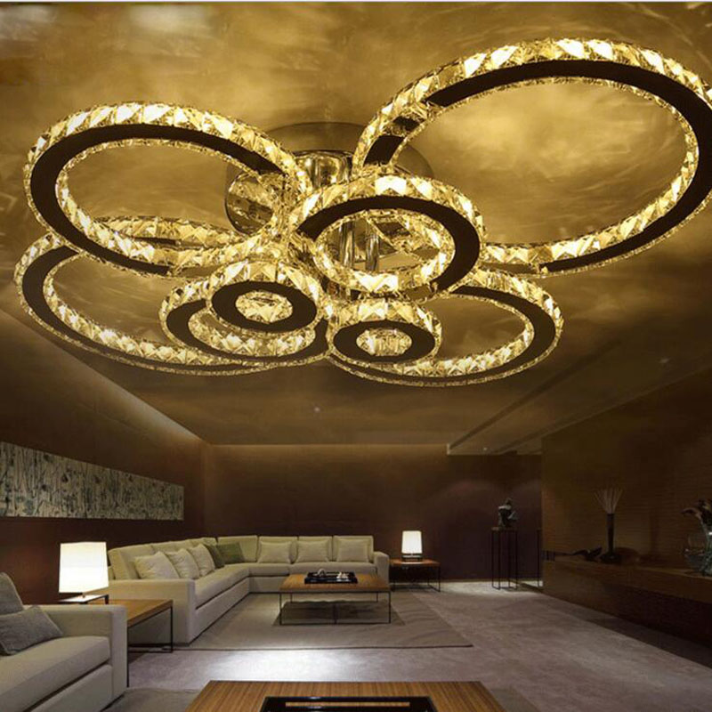 led ceiling lamp modern simple bedroom lights stainless steel wire cut led living room crystal ceiling lamp crystal chandelier led crystal chandelier lamp can be customized stainless steel restaurant