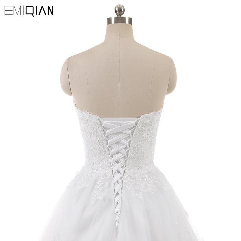 Real Photo Sleevess Vintage Blond Bröllopsklänningar 2018 En Line - Bröllopsklänningar - Foto 6