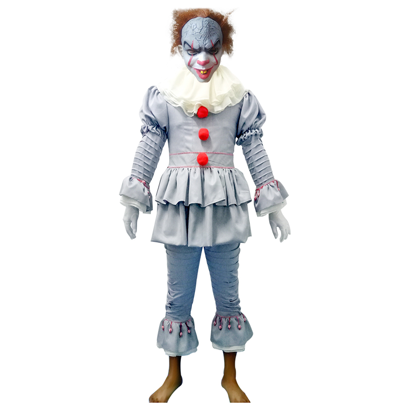 5pcs/lots Cosplay costume clown back to the soul cos Penny Wise Halloween costume clown COS horror cosplay