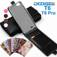 Classic Luxury Advanced Top Leather Flip Colorful Leather Cases For Doogee T6 Pro Case Cover With